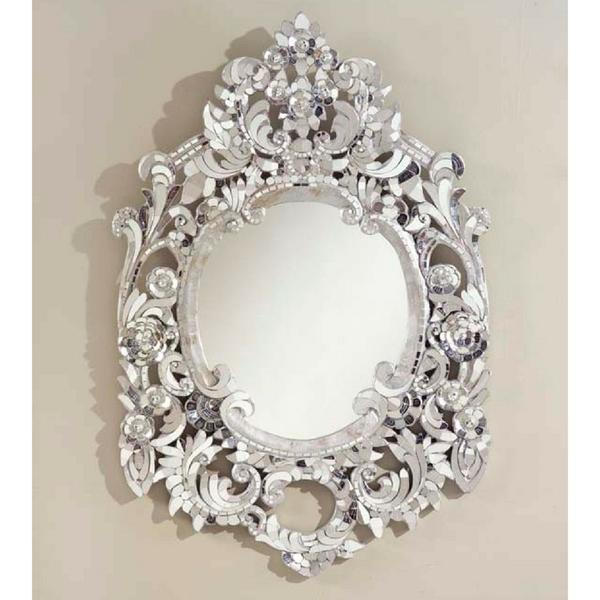 Silver Handcut Glass Mirror - Image 2 of 4