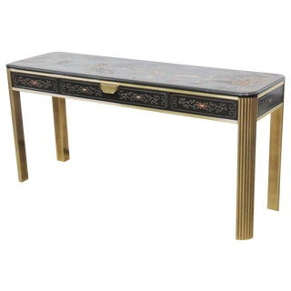 Mastercraft Style Chinoiserie Decorated Console