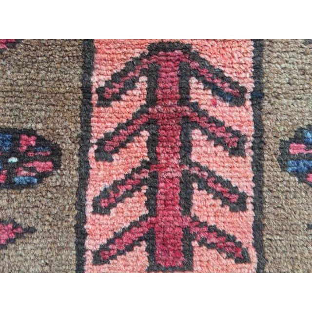 "Vintage Persian Zanjan Area Rug - 3'4""x4'6"" - Image 8 of 8"