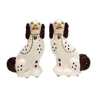 Staffordshire-Style Ceramic Dogs - A Pair