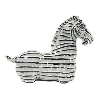 Seated Ceramic Zebra