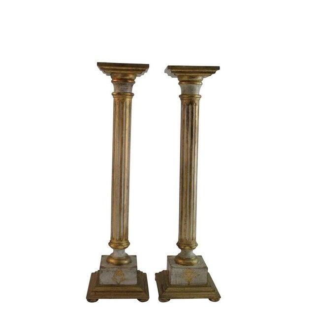 Italian Florentine Pedestal - Pair - Image 1 of 3
