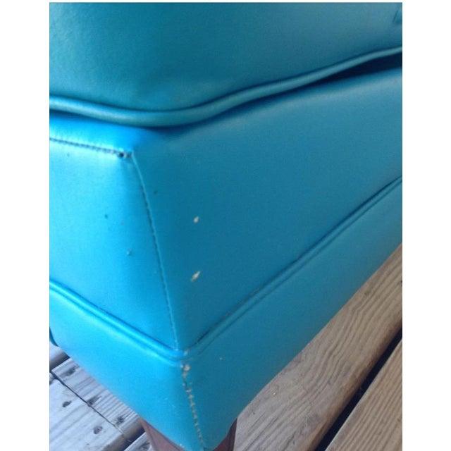 Mid-Century Modern Turquoise Sofa - Image 10 of 11