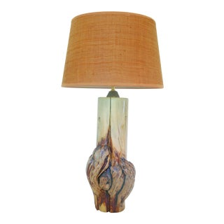 Vintage Rustic Burl Wood Table Lamp
