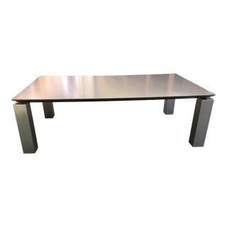 Moe's Cut Lacquered Top & Brushed Stainless Legs Coffee Table