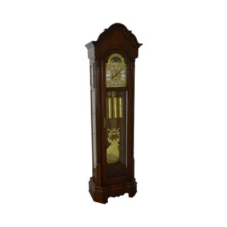 Sligh Stamford Mahogany Tall Case Grandfather Clock