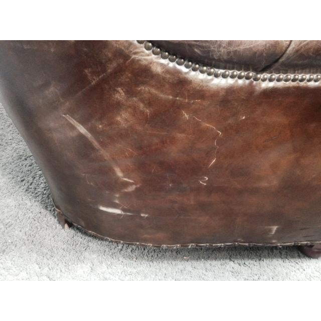 Leather Club Chairs - Pair - Image 10 of 11