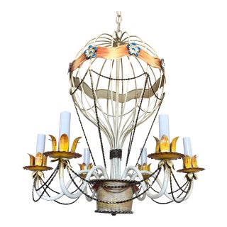 1950s Italian Hot Air Balloon Chandelier