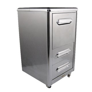 1940's Jamestown Polished Metal File Cabinet