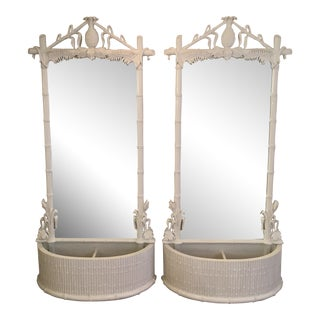 Gampell-Stoll Pineapple Full-Length Mirrors - a Pair