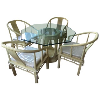 Asian Style Dining Set Attr. James Mont