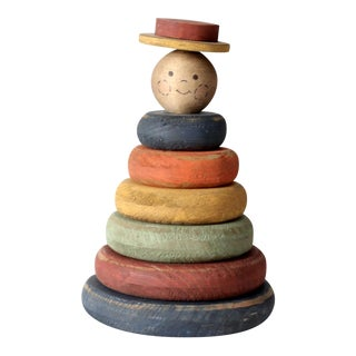 Vintage Americana Wood Stacking Toy