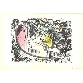 Marc Chagall Dlm No. 182 Pages 4,5-1969 Lithograph