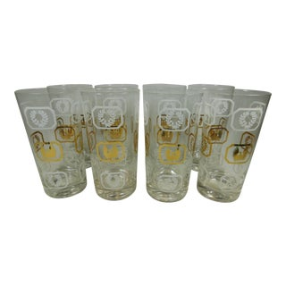 Eagle & Wreath Highball Glasses- Set of 8
