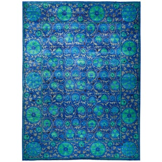 """Suzani Hand Knotted Area Rug - 9'2"""" X 12'3"""""""
