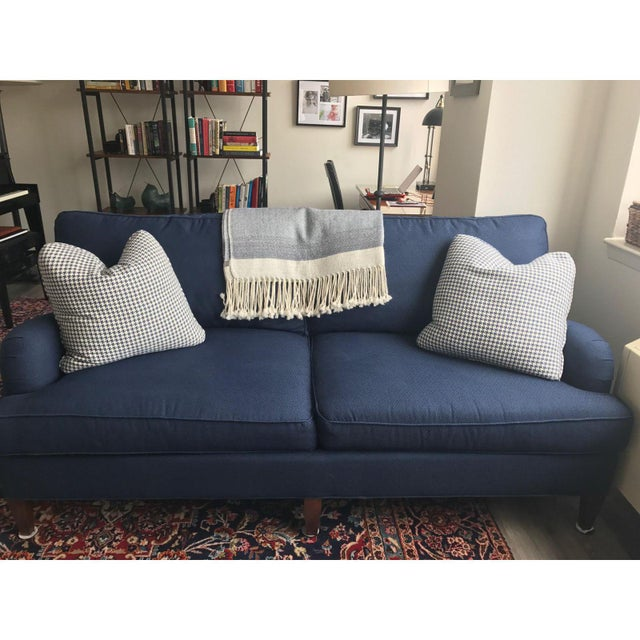 C.R. Laine Blue Custom Couch - Image 3 of 6