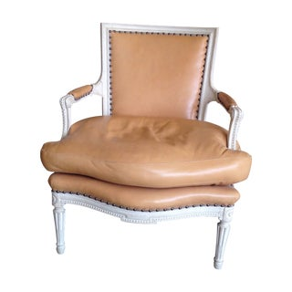 Cream Finish French Arm Chair