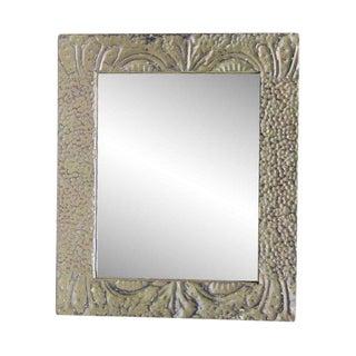Olive Green Tin Mirror