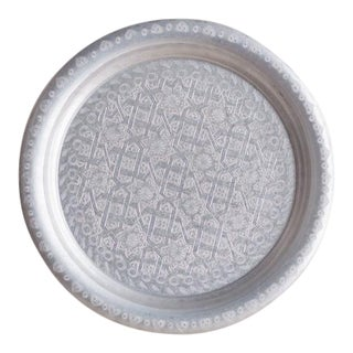 Hand Made Etched Moroccan Tray