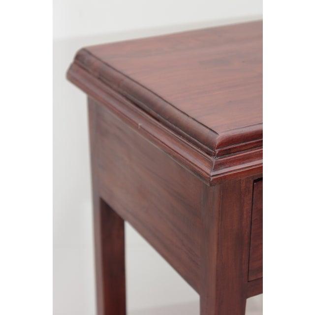 Handmade Straight Leg Teak Nightstand - Image 4 of 4