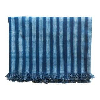 Tensira Indigo Stripe Cotton Throw Blanket