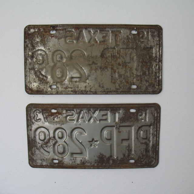 Vintage Texas License Plates 1973 - A Pair - Image 3 of 5