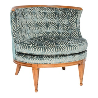 Grosfeld House 1940s Glamorous Curved Slipper Chair