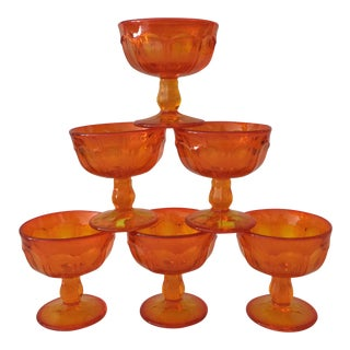 Amberina Champagne / Dessert Glasses - Set of 6