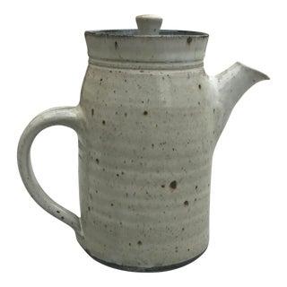 Mid-Century Modern Stoneware Tea Pot