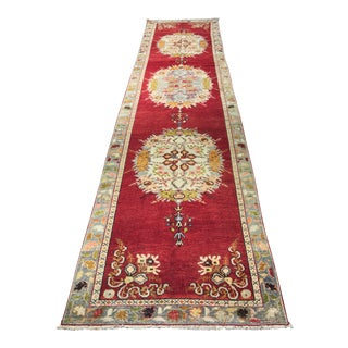 Bellwether Rugs Vintage Turkish Oushak Runner - 3'x12'6""