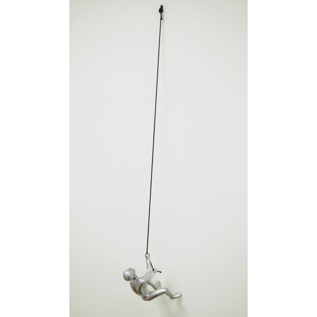 Image of Silver Climbing Man Wall Art