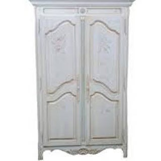 Hand Painted French Country Armoire by Ethan Allen