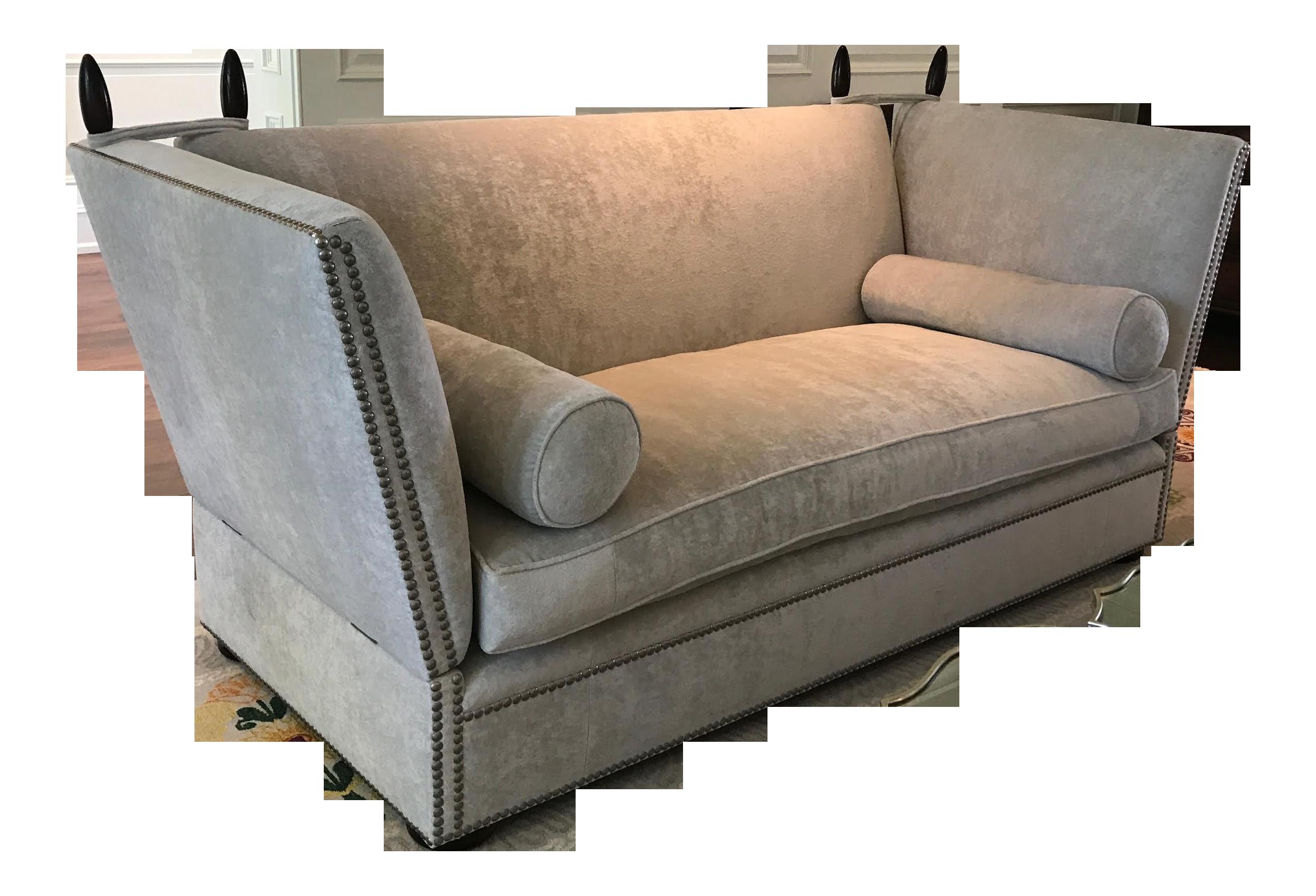 George Smith Light Silver Grey Sofa