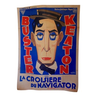 "French Buster Keaton Movie Poster ""The Navigator"""