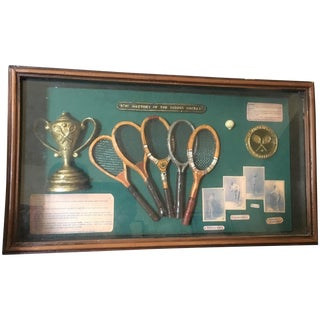 Wes Anderson-Style Vintage Tennis Shadowbox
