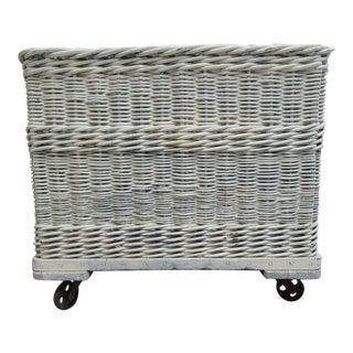 Antique Industrial Wicker Basket Hamper Storage
