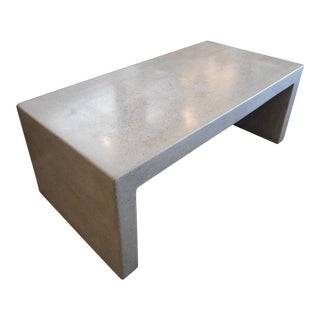 Crate & Barrel Concrete Coffee Table