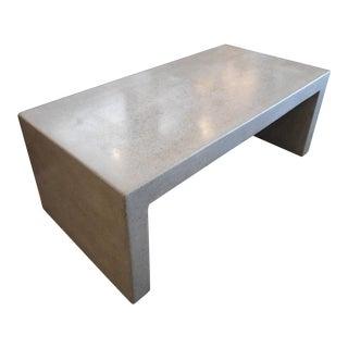 Crate & Barrel Concrete Coffee Table