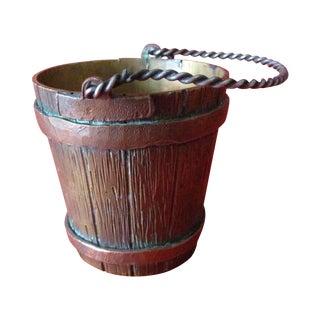 Antique French Mini Bronze Bucket