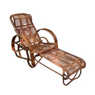 Paul Frankl Rattan Chair & Ottoman