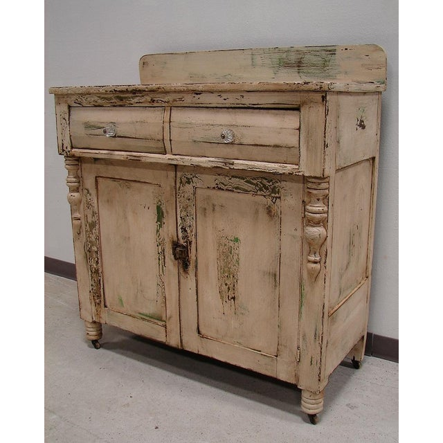 Primitive Painted Antique Dresser Chest Cupboard Image 2 Of 5