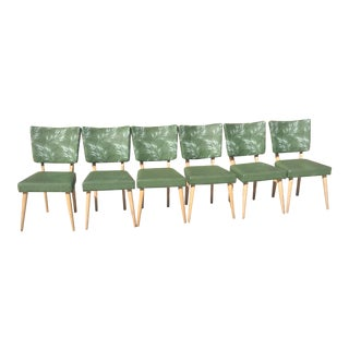 Mid-Century Green Dining Chairs - Set of 6