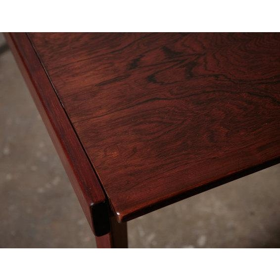 Mid-Century Rosewood Table With White Leaf - Image 5 of 8