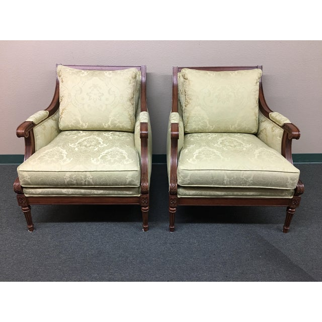 Ethan Allen Fairfax Arm Chairs - A Pair - Image 2 of 11