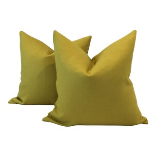 "Maharam ""Tonus"" Wool Pillows - A Pair"