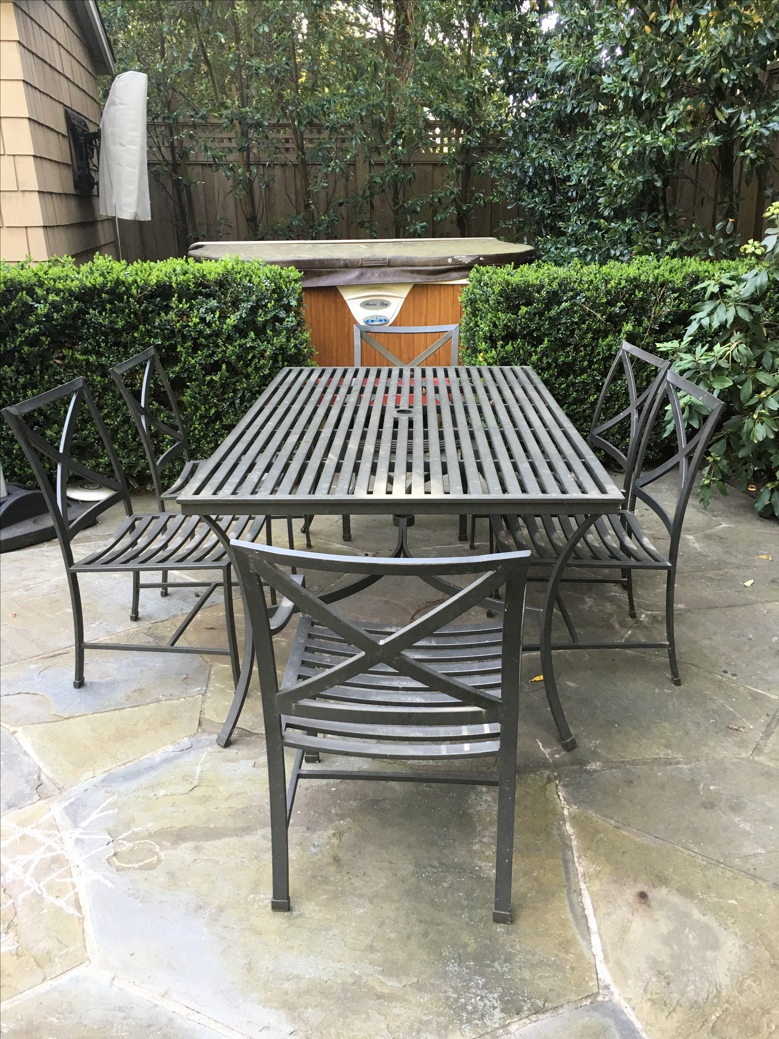 Image Of Restoration Hardware Outdoor Dining Table U0026 Chairs