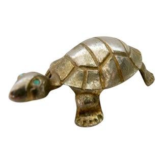 Vintage Brass Turtle Figurine