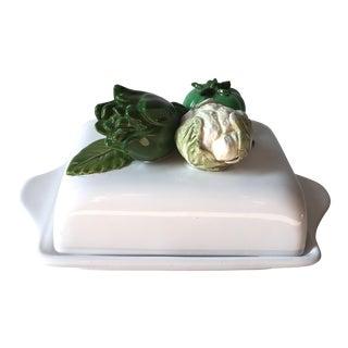 Italian Faience Covered Butter Dish-Bassano