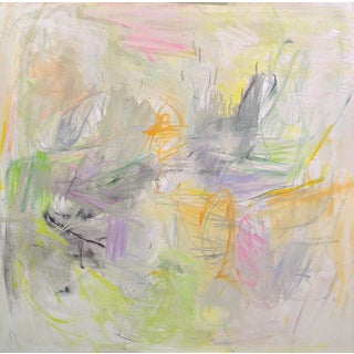 "Large Abstract Painting by Trixie Pitts ""Happy Day"""