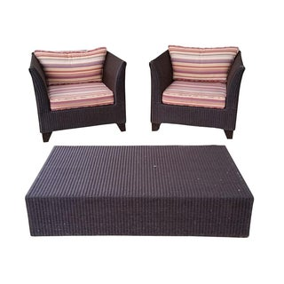 Gondola Chairs & Coffee Table - Set of 3